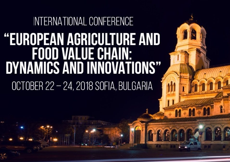 """Pro Drone Sys участва на международната конференция """"EUROPEAN AGRICULTURE AND: FOOD VALUE CHAIN DYNAMICS AND INNOVATIONS"""""""